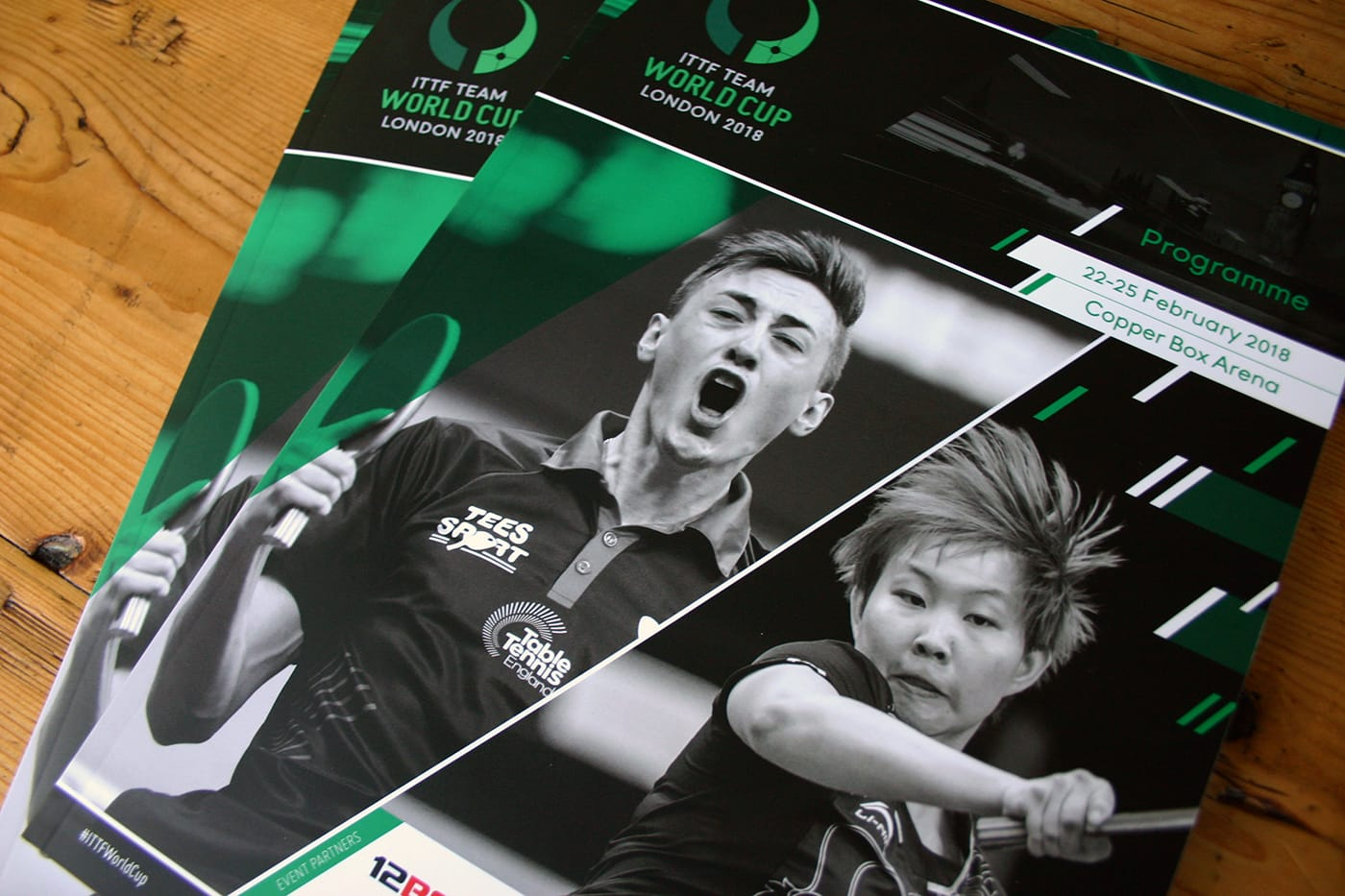 Design and production of the official event programme for the 2018 ITTF Team World Cup