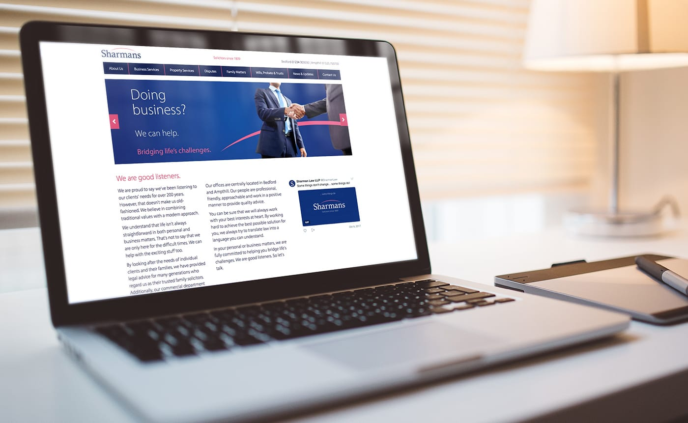 Rebranding exercise and creation of a fully responsive website on behalf of a well established solicitors.