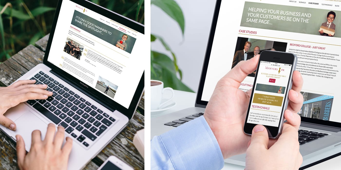 Branding & creation of a website on behalf of Bedford's longest running PR agency.