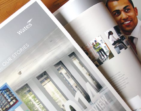 Design and production of an Annual Report on behalf of one of the UK's largest construction companies.