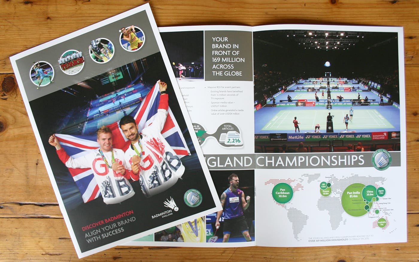 Creation of a brochure to raise awareness of advertising and corporate sponsorship opportunities for one of the worlds most prestigious sporting events.
