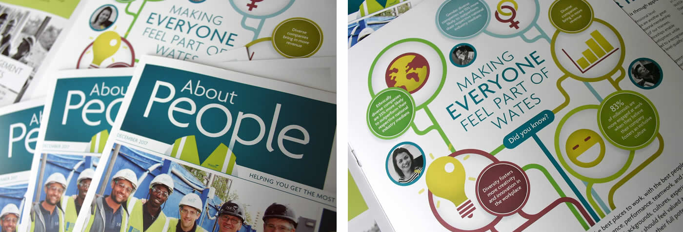 Creation of employee engagement newsletters on behalf of one of the UK's largest construction companies.