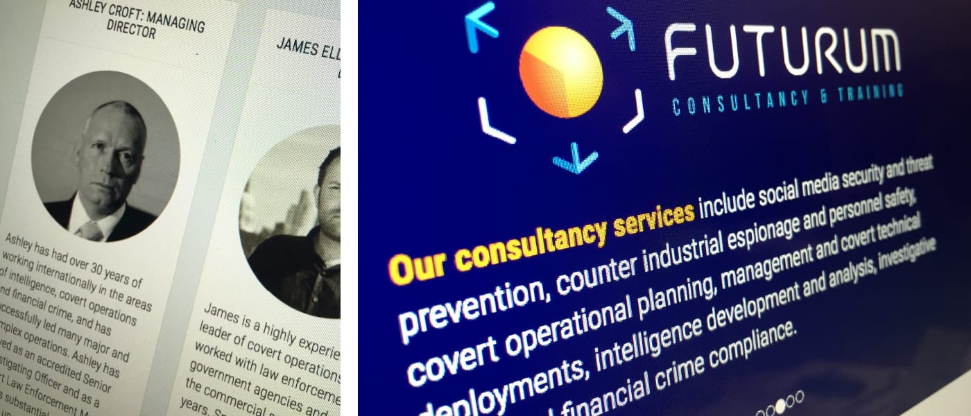 Branding & website exercise for an international security consultancy.