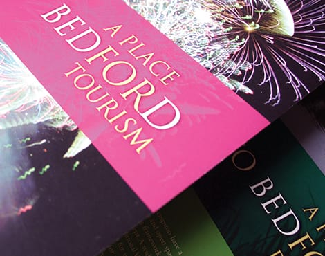 Creation of a suite of brochures aimed at improving civil pride in and around Bedford.