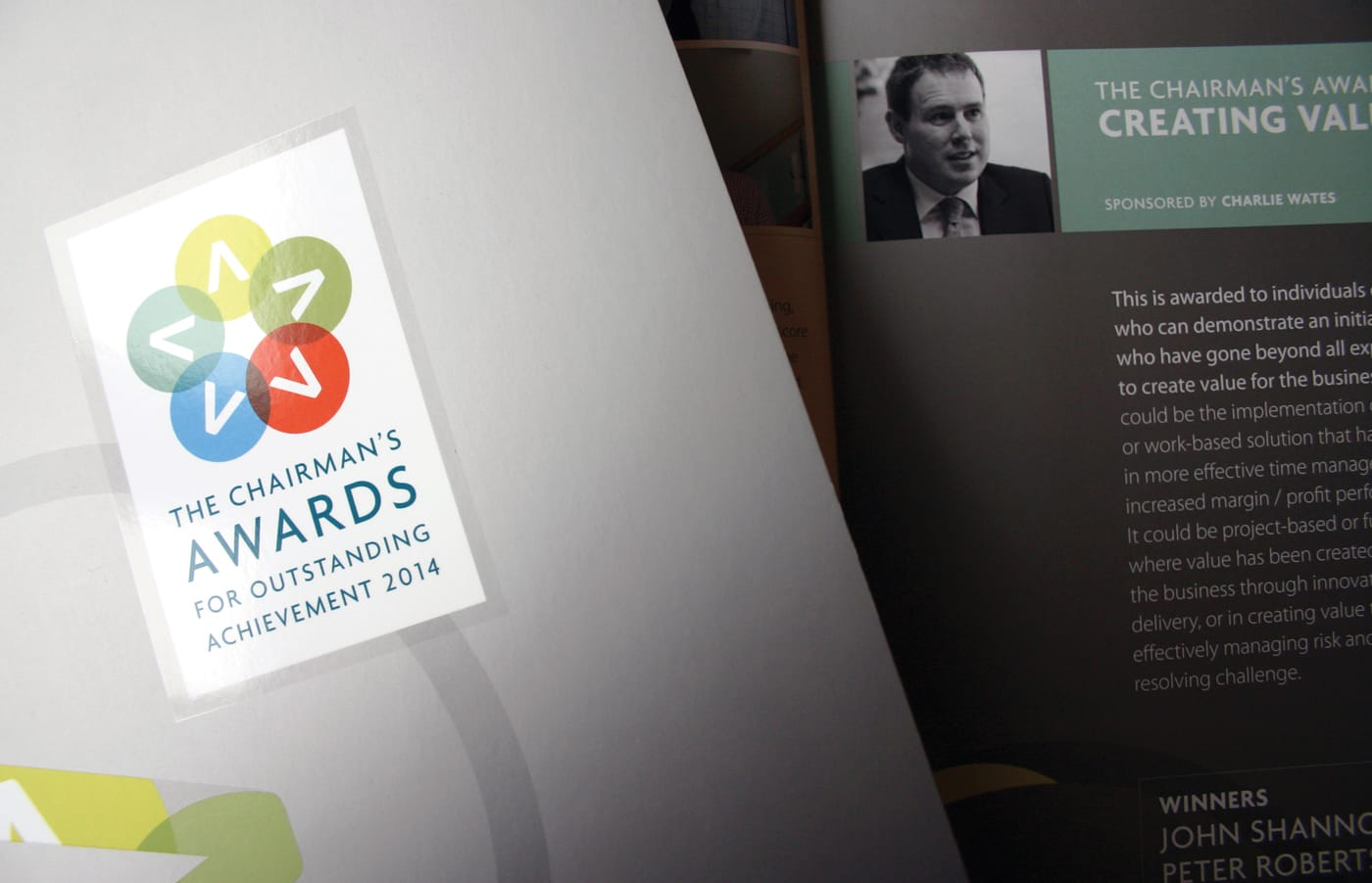 Branding exercise and creation of event brochures, invites, and graphics for an annual awards event on behalf of one of the UK's largest construction companies.