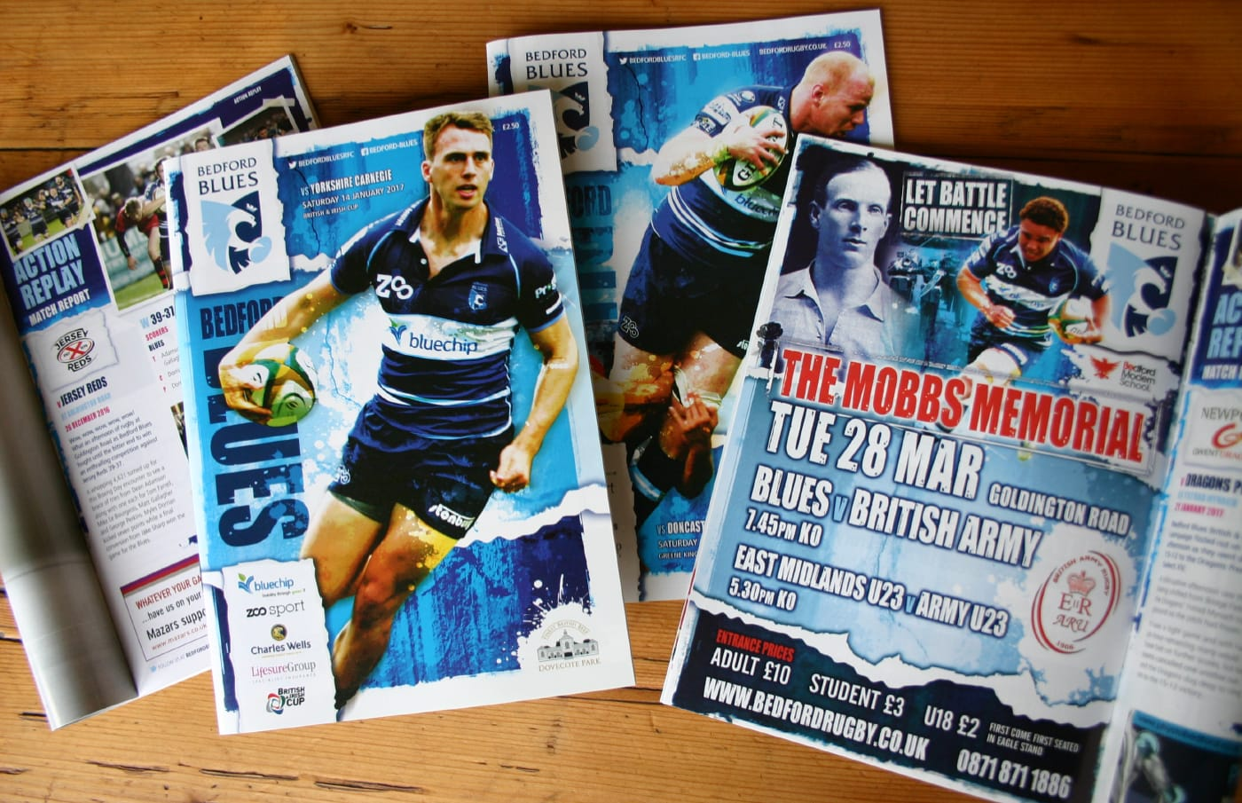 We have created the official match day magazine for over 10 years on behalf of the professional rugby club.
