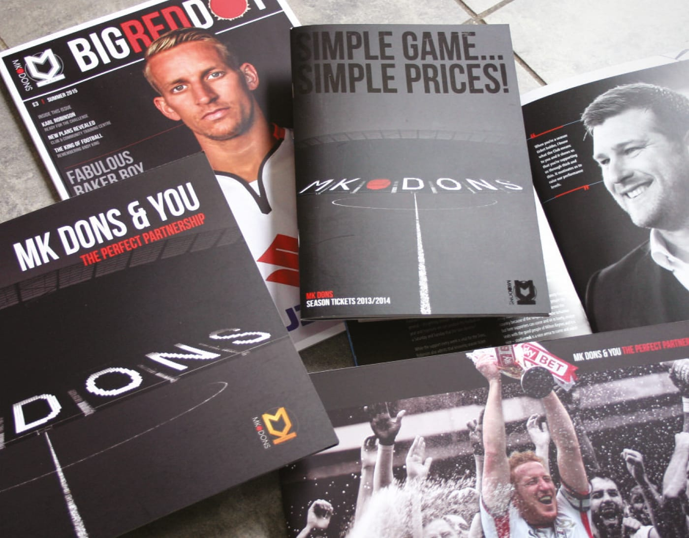 A suite of marketing & sales literature to help deliver football at the heart of Milton Keynes.
