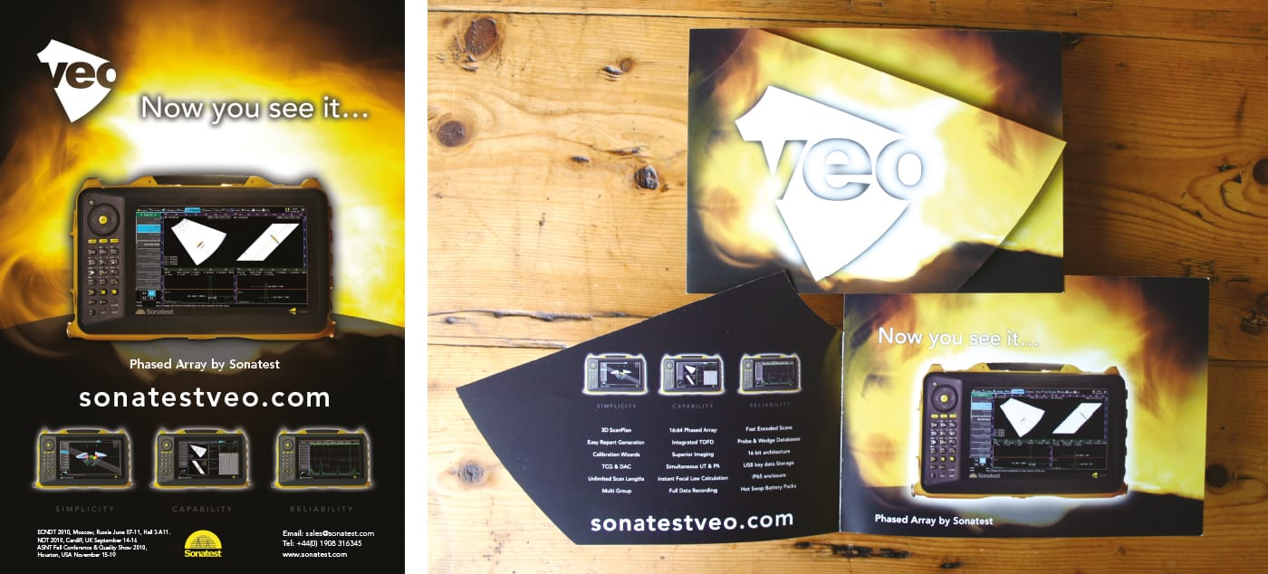 Creation of a series of product specific press advertisements and interactive direct mail for a specialist NDT company.