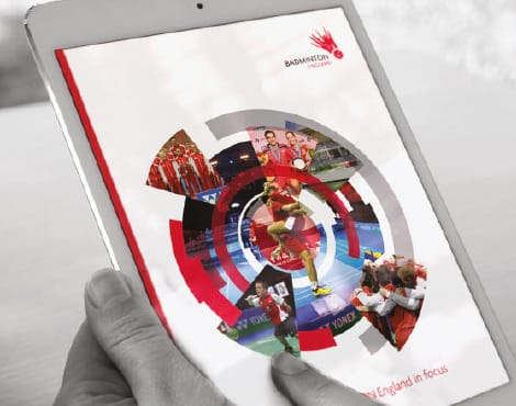 Design of an Annual Report in both print and online on behalf of the sports governing body.