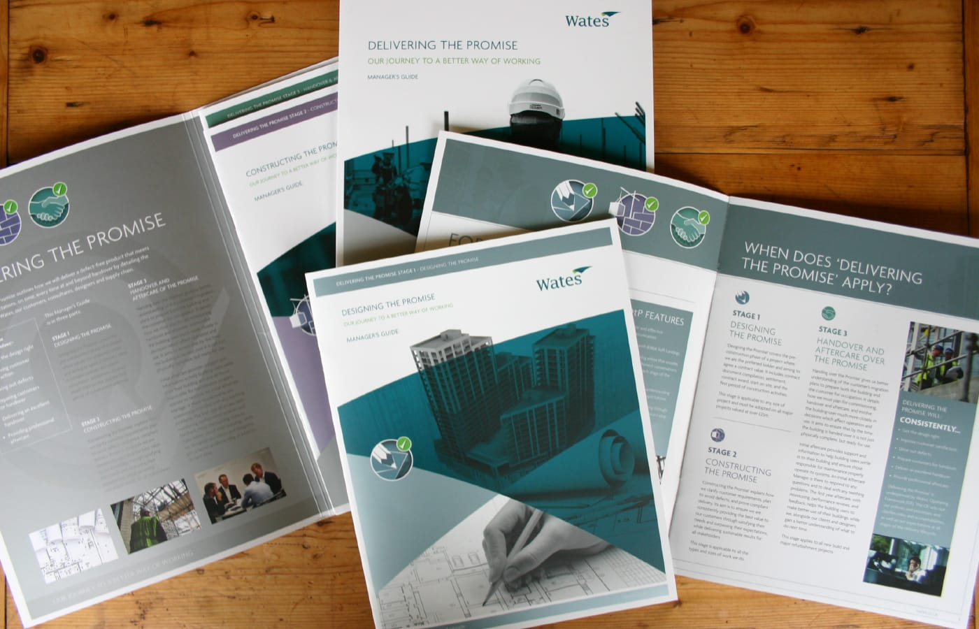 Creation of a suite of brochures and corporate folder designed to help 'deliver the promise' on behalf of one of the UK's largest construction companies.