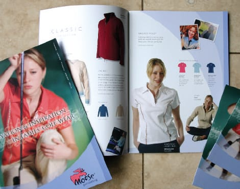 Creation of sales literature including writing and photography requirements on behalf of an online ladies golf clothing company.
