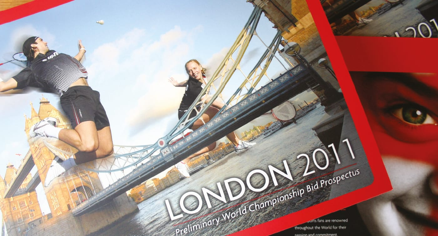 Design of a brochure and interactive DVD as part of the bid to host the world championships in London in 2011. The bid by Badminton England was successful.