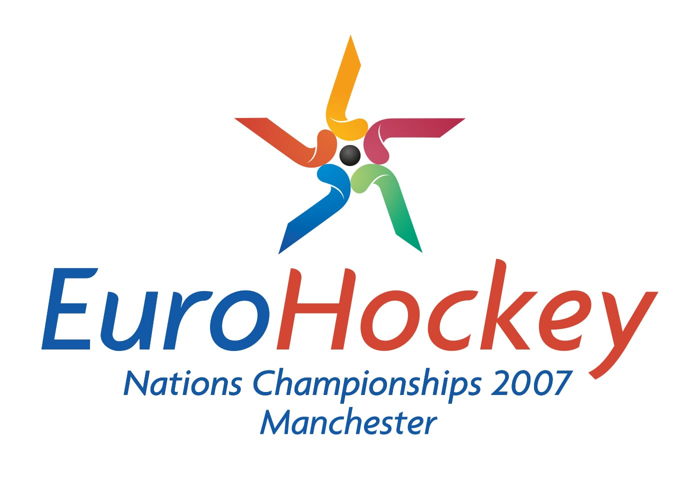 Event branding for an international hockey event hosted by England Hockey on behalf of the international federation.