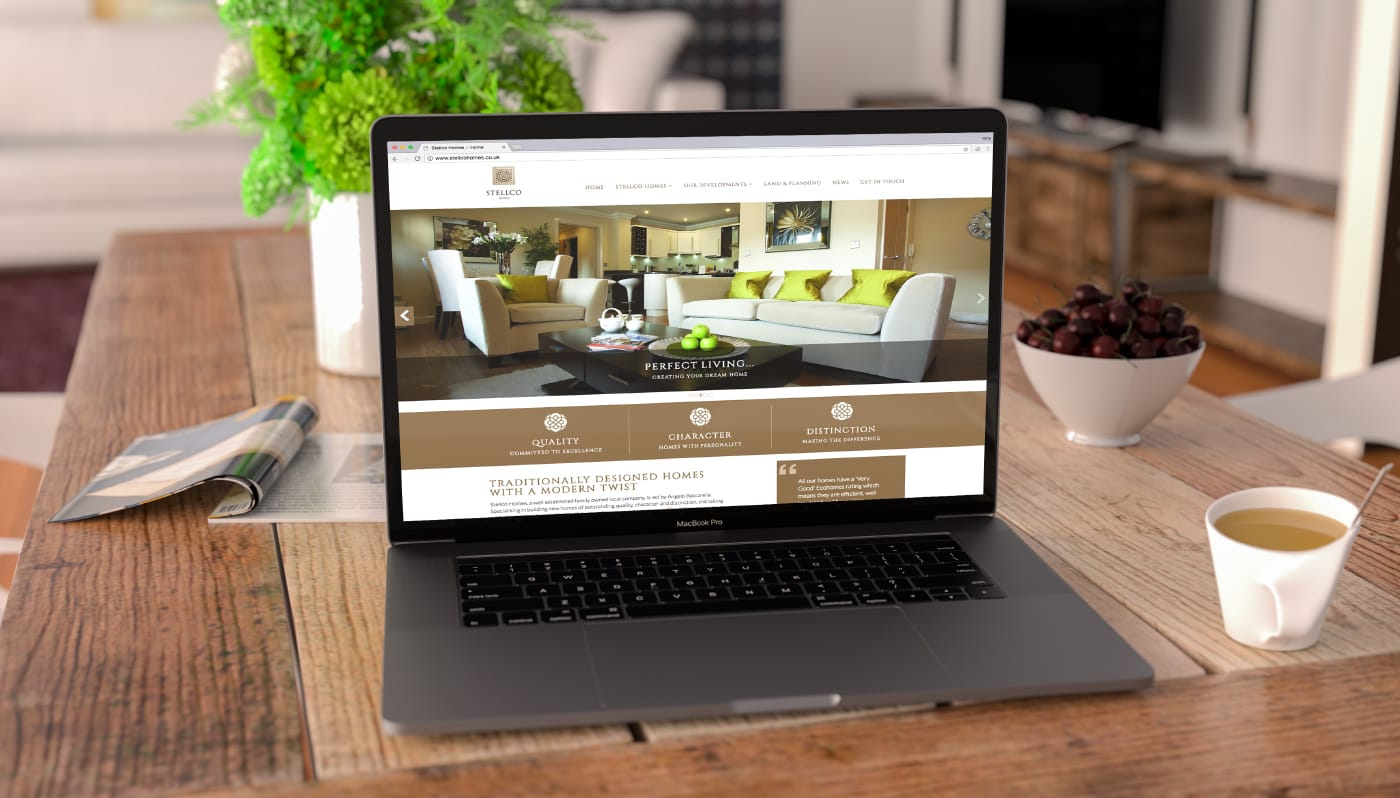 Branding project including the creation of a fully responsive website for a property developer.