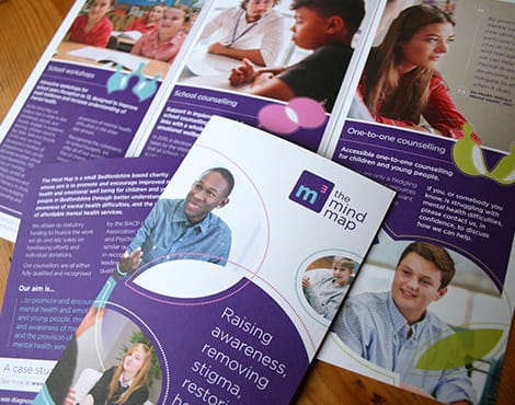 Branding project and related publicity materials for this charity committed to improving the mental health of youngsters.