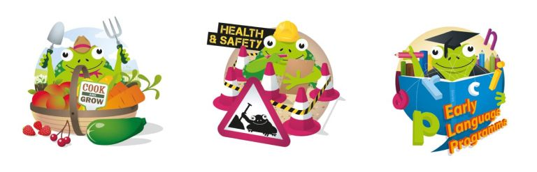 Food, Health & Safety and Early Learning illustrations
