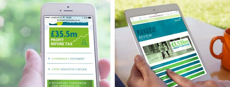 Digital annual review on mobile devices