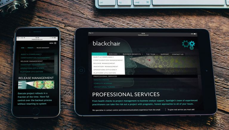 Responsive website for Blackchair